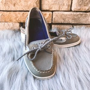 Sperry Top Siders Silver Size 6